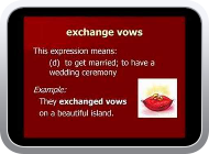 Lesson 8 - Love and Marriage - English Vocabulary